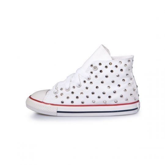 All star hi WHITE SWAROVSKI Kid