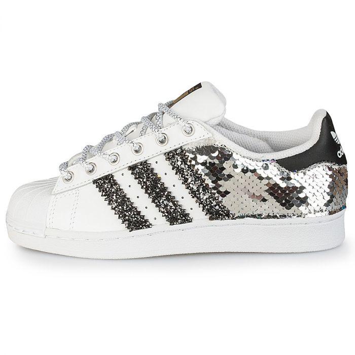 adidas superstar back glitter silver paillettes   Il Maltese Lab ...