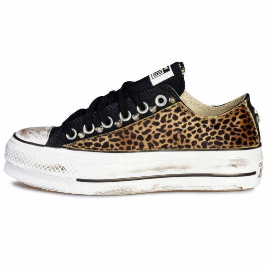 PLATFORM LOW BLACK cheet