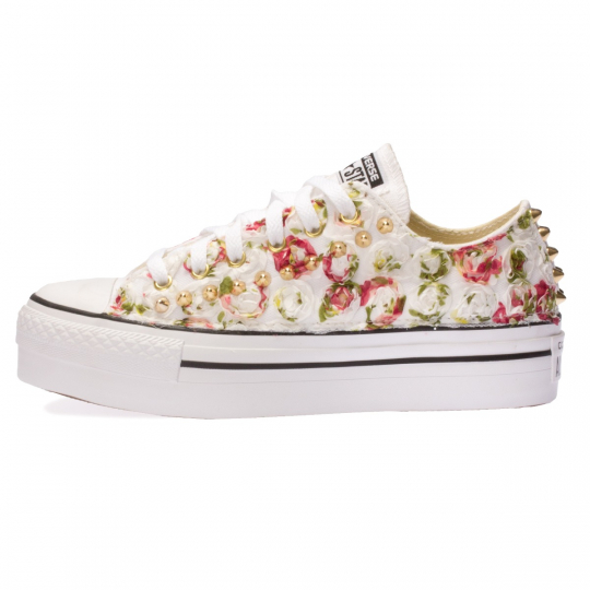White Lil' Roses Low PLT