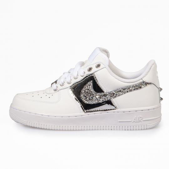 AIR FORCE VINYL GLITTER LOW WHITE