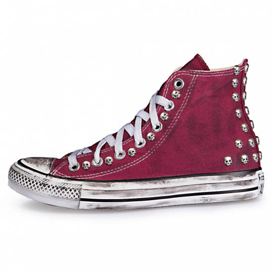 Dirty Skull Maroon Hi