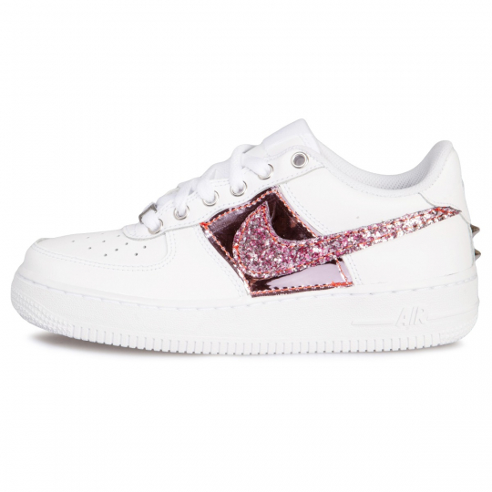 AIR FORCE VINYL GLITTER PINK LOW WHITE