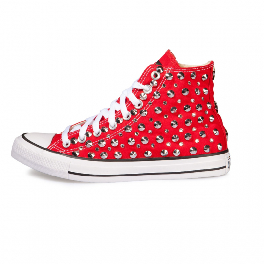 RED STUDS/SWAROVKI