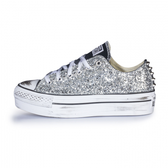 platform low BLACK RUNAWAYS SILVER