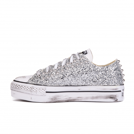 platform low WHITE RUNAWAYS SILVER