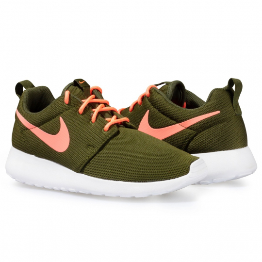 NIKE ROSHE RUN GREEN NEON
