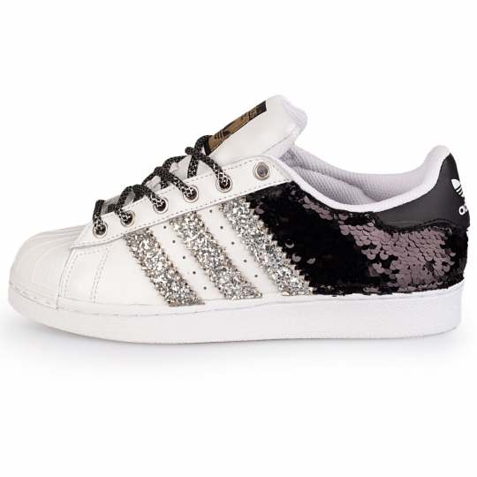ADIDAS SUPERSTAR BACK BLACK PAILLETTES