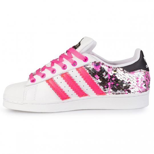 adidas superstar back paillettes drip neon