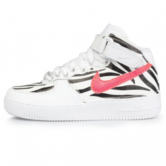 air force mid zebra fluo neon