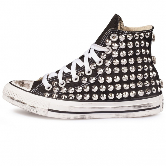 all star BLACK cone skull