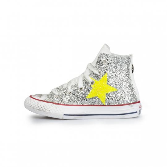 all star glitter neon stars 27-34