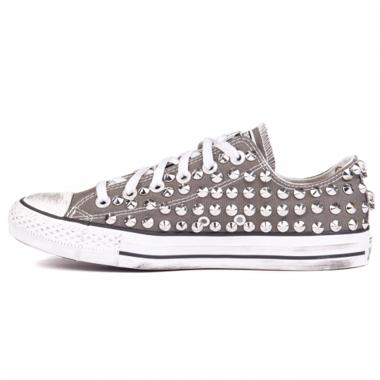 all star GREY CHARCOAL LOW skull