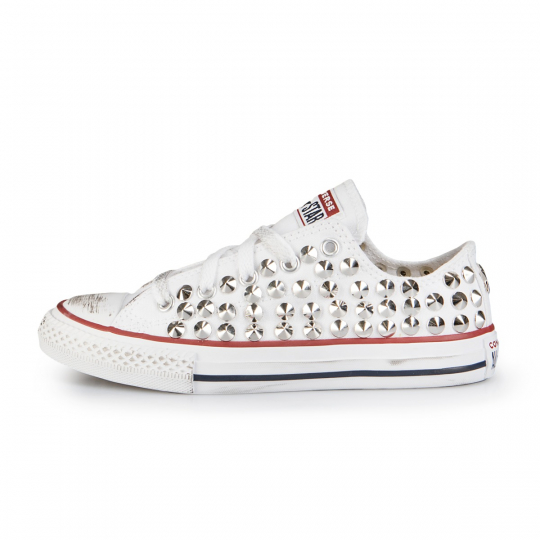 all star white low cone 27-34