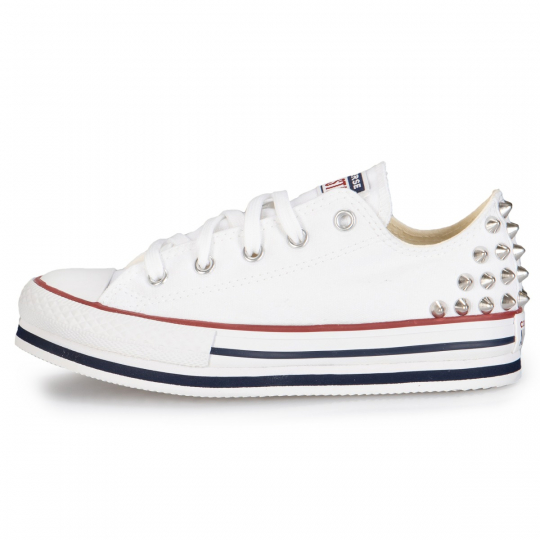 All Star White Platform Low Studs 27-34