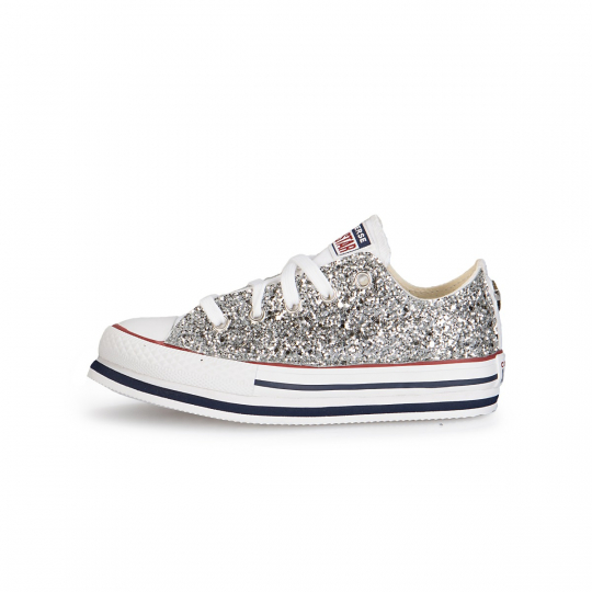 All Star White Runaways Platform Low Studs 27-34