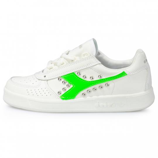 diadora green neon studs