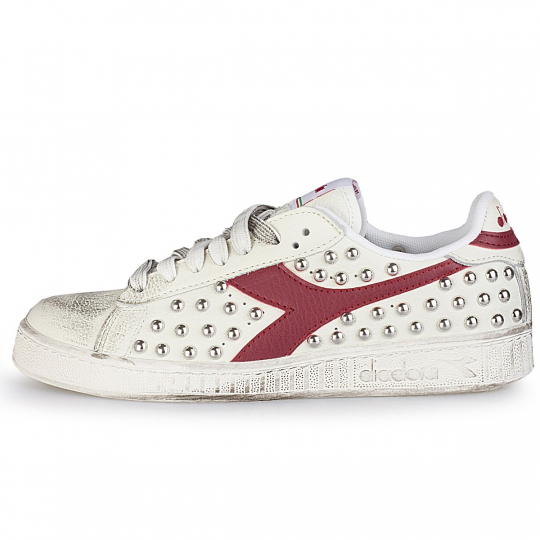 diadora game red studs