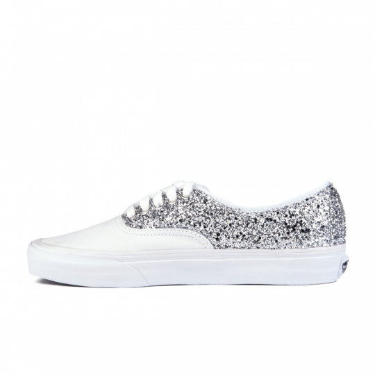 vans authentic White Glitter
