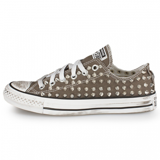 all star GREY CHARCOAL LOW POINT