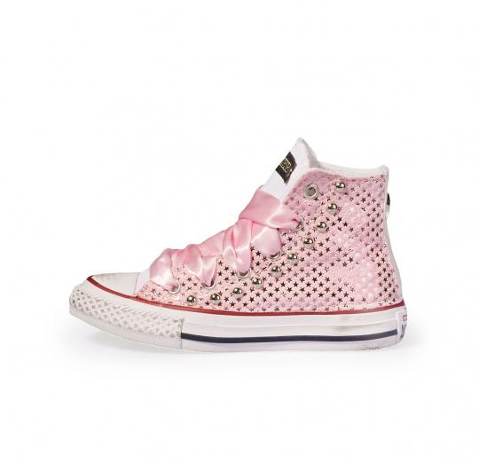 Pink Stars Satin 27-34