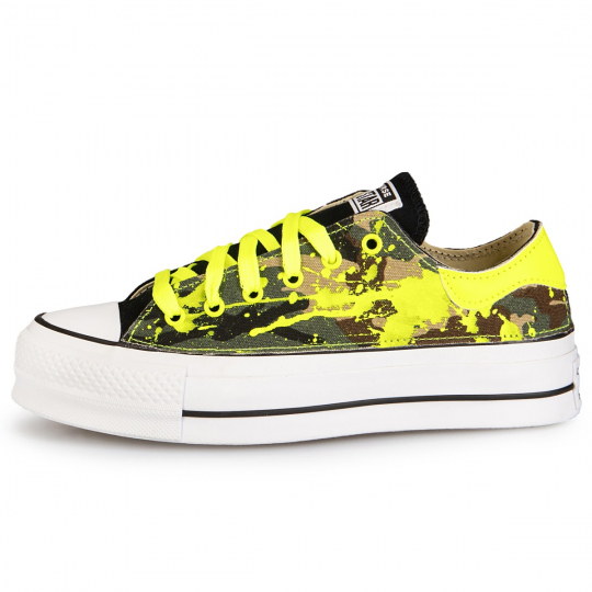 PLATFORM LOW DE-LA CAMO DRIP YELLOW NEON