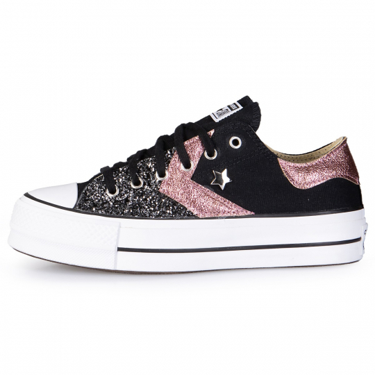 PLATFORM LOW IMLS DARK ROSE GLITTER
