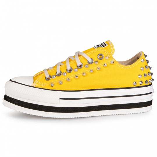 PLATFORM LOW LINES YELLOW STUDS