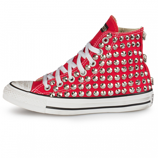 all star red cone skull
