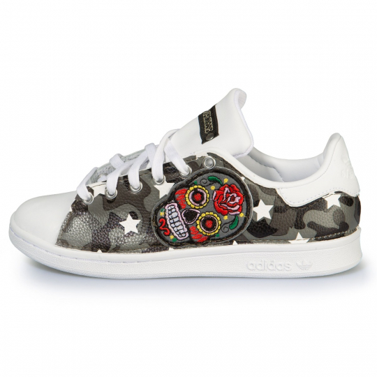 STAN SMITH CAMO SKULL WHITE