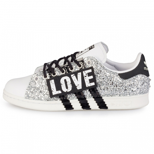 stan smith glitter love