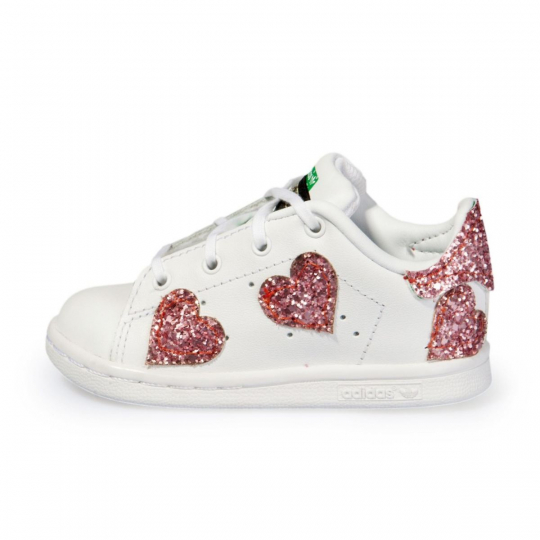 STAN SMITH PINK OF GLASS KID ( 17-34 )