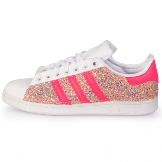 superstar peach glitter neon
