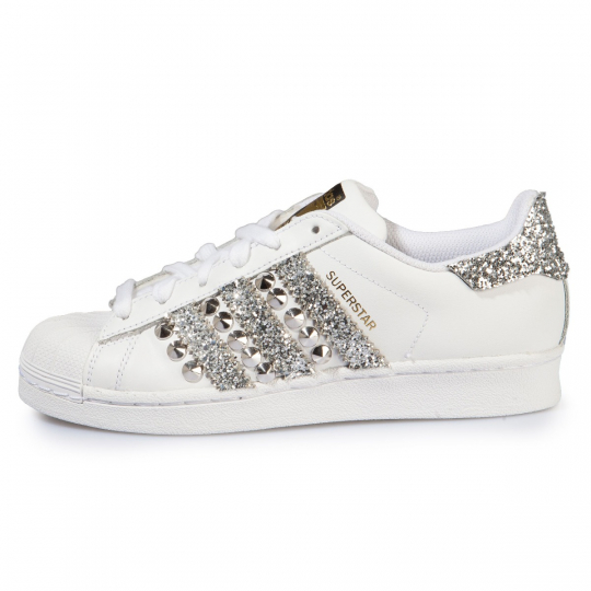 SUPERSTAR STRIPES SILVER STUDS